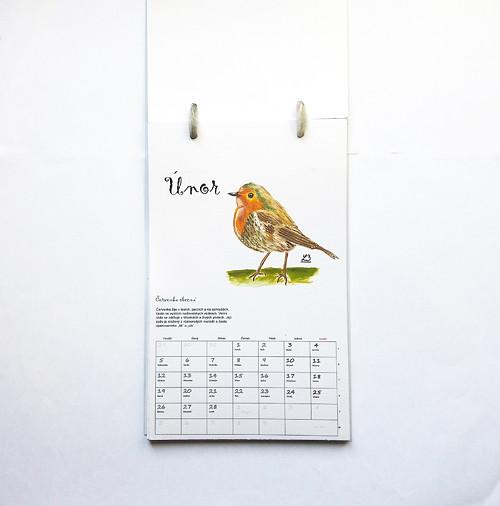 Ptačí kalendář s volitelným začátkem