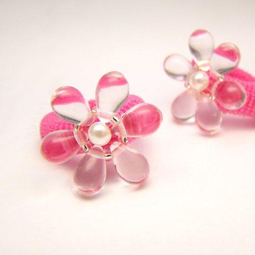 Růžové kytičky gumičky