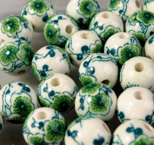Porcelánová kulička (4 ks) 12 mm