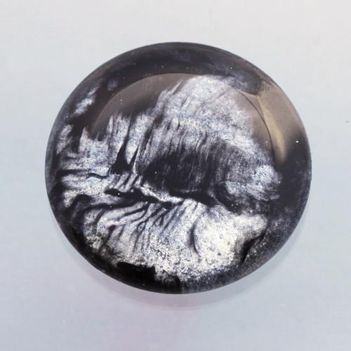 Kabošon: sklo, průměr 4,5 cm