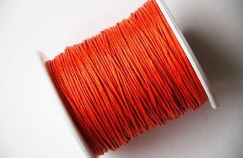 voskovaná šňůrka 10m- oranžová