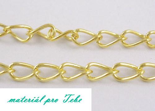 zlatá retiazka - železo - 1m