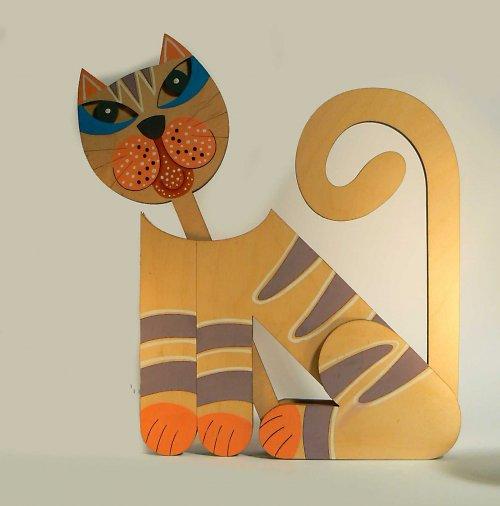 Kočka ručně malovaná II.