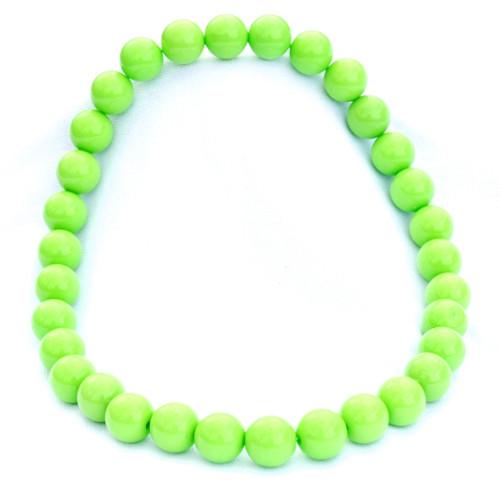 Světle zelené střední korále na krk