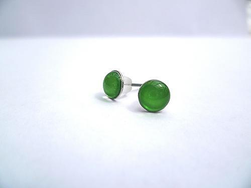 Náušničky malé zelené