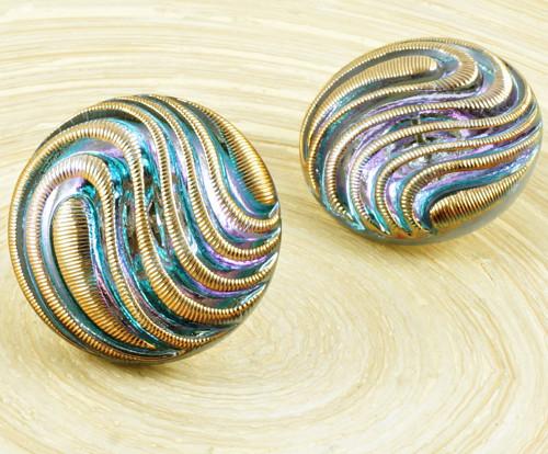 1ks Crystal Vitrail Light Gold Wave Lines Velké Ru