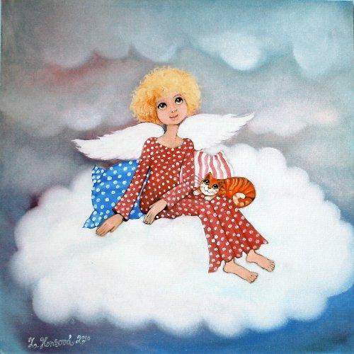 Andělíček na obláčku