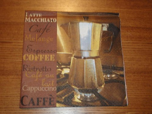 Ubrousek na decoupage - káva