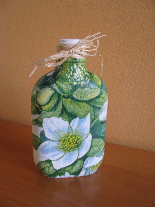dekorační láhev KVĚTINOVÁ