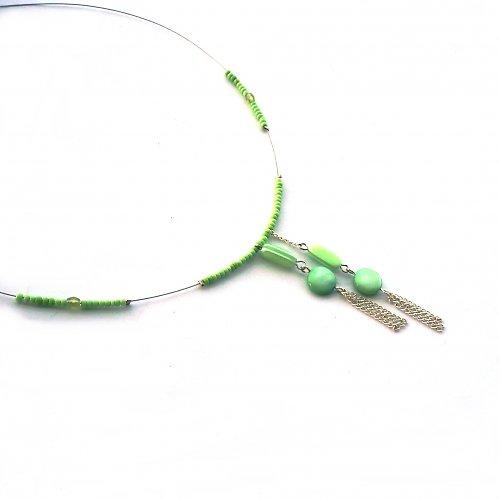 Jemně zelinkavý náhrdelník - 10% sleva!!!