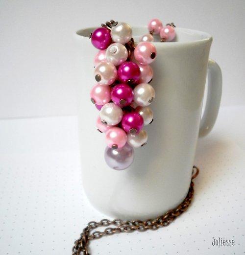 Růžovoměděný náhrdelník