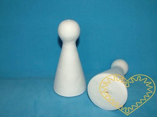 Maxi bílá figurka (68 x 140 mm) - 1 kus