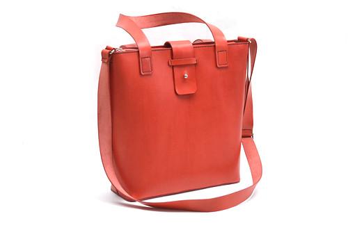 """Dámská taška - \""""tote bag\"""" se zipem červená"""