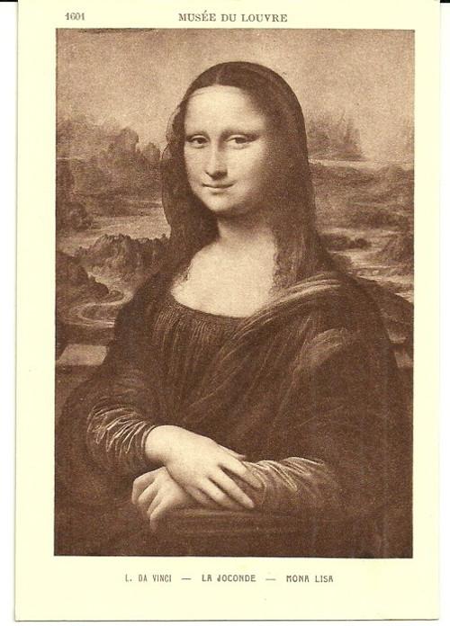 Umělecká pohlednice L.Da Vinci