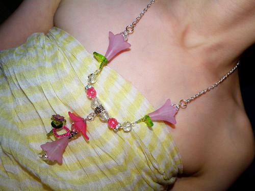 Vílí náhrdelník - růžový