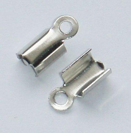 Koncovka plochá, platinová hladká 9x4 mm 50 ks