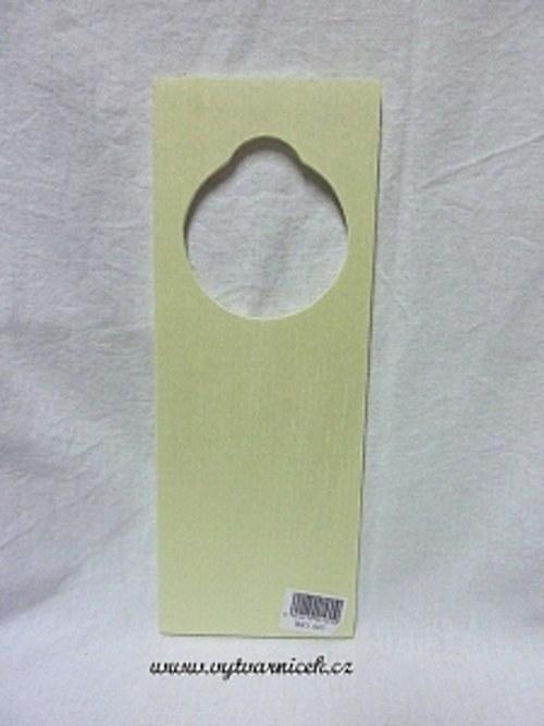 Dřevěná vysačka na kliku 9 x 24 x 0.5 cm