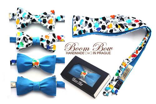 Vázací bavlněný motýlek. Handmade men\'s bow Tie.