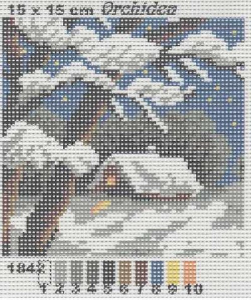 Předloha na vyšívání 15 x 15 cm Zima
