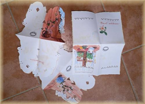 Dopisní papír kirigami - SADA 3 ks