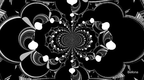 Black & white - fraktální grafika
