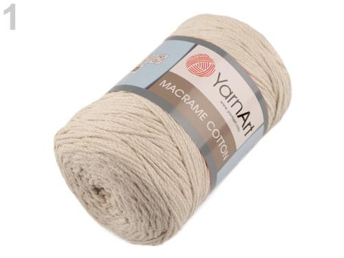 Pletací příze Macrame Cotton(250g) YarnArt- béžová