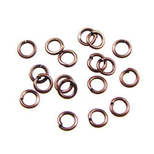 Staroměděné spojovací kroužky 4 mm, 100 ks