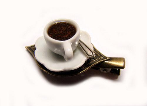 Kafíčko...Pravá turecká! ..sponka & brož