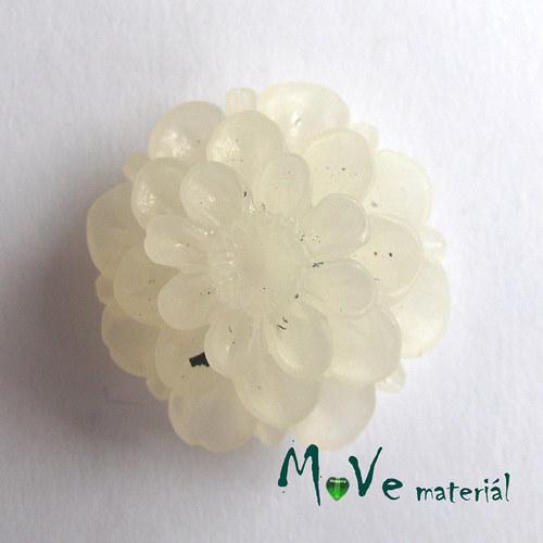 Kabošon květ resin/6ks/bílý./II. jakost
