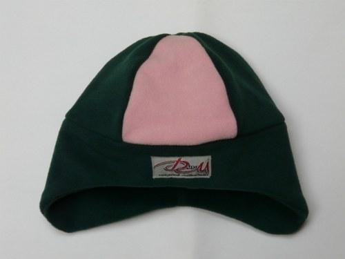 Čepice zeleno - růžová, OH-52cm