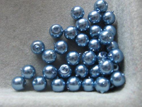 Vosková perla - světle modrá 5 mm / 20 ks