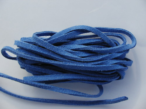 Imitace kůže, modrá 3 mm