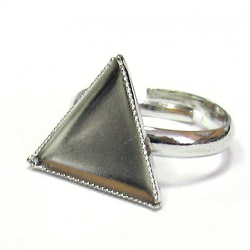 Prsten bezel - trojuhelník