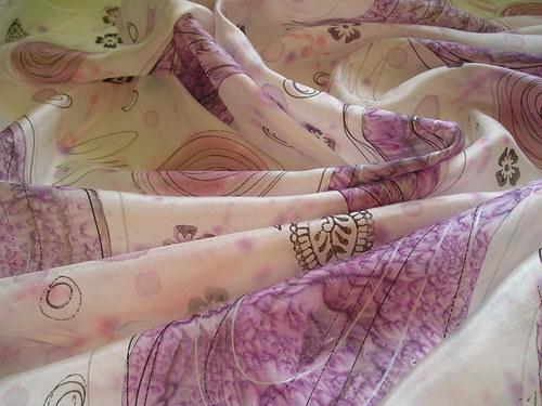 Hedvábný šátek 90*90