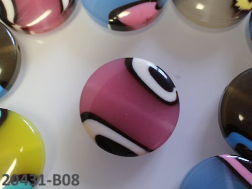 "20431-B08 Korálky kola \""barvy moře \"" RŮŽOVÉ, 1ks"