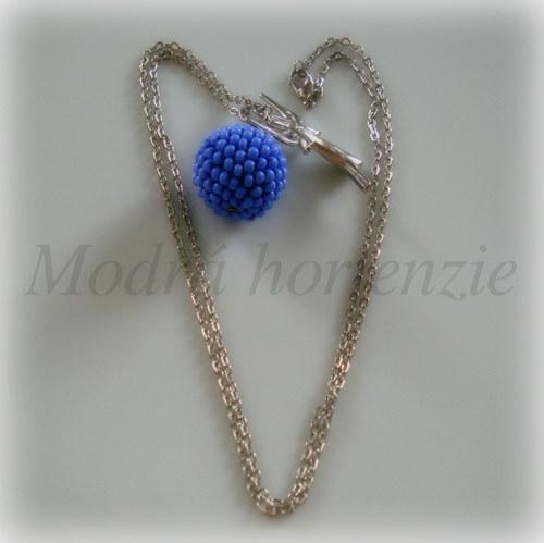 náhrdelník - obšitá kulička