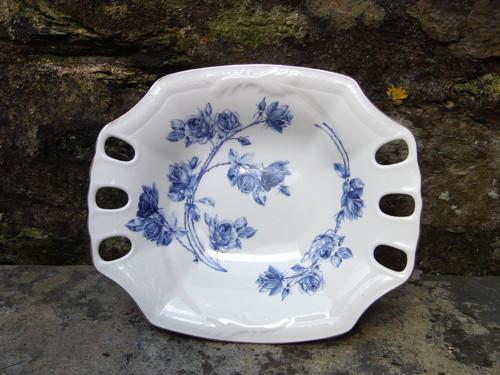 Porcelánový tác /t14/ Modrá růže
