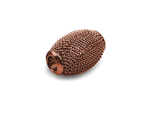 9001099/Drátkovaný korálek široký, hnědý, 1 ks