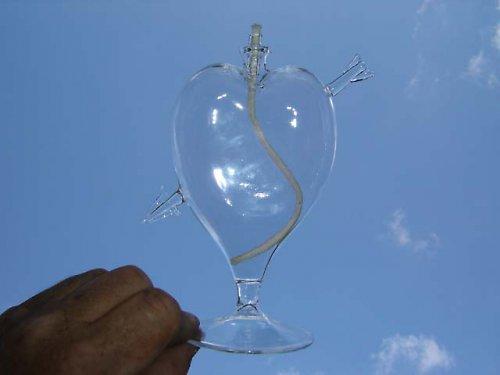 Srdce - olejová lampa