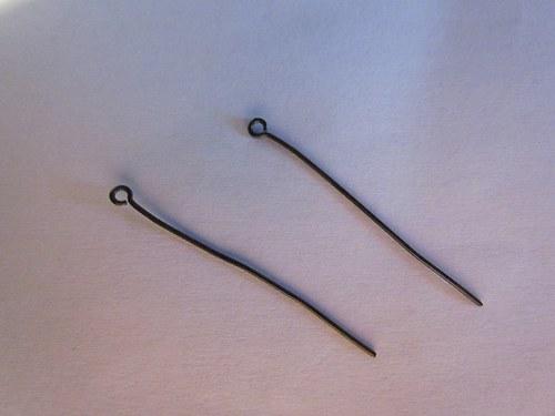 Černá očková ketlovací jehla-30mm