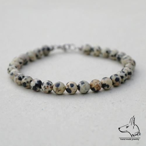 Jaspis dalmatin náramek