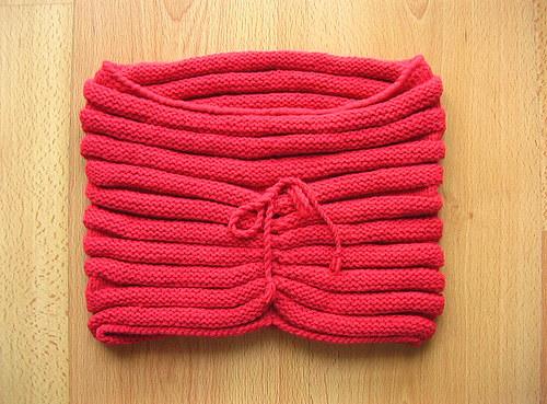 Módní nákrčník - kukla červená (jahodová)
