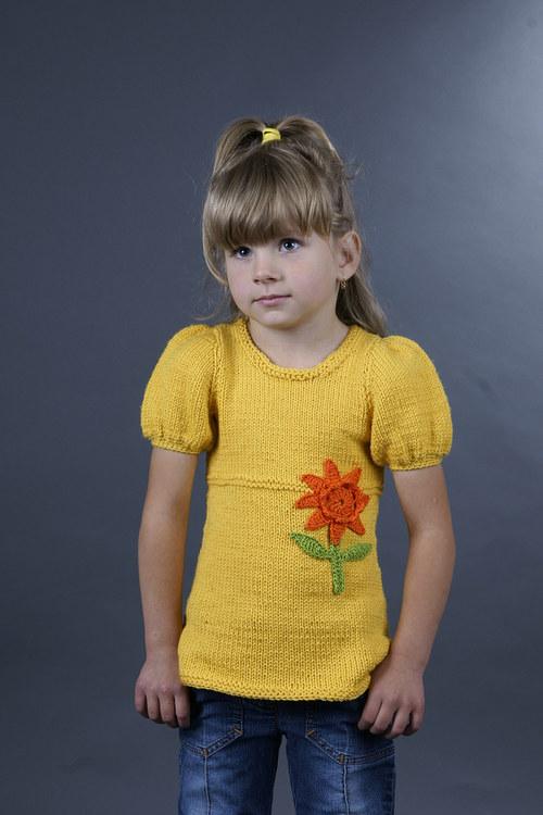 Popis - návod na pletenou dětskou tuniku Sunny