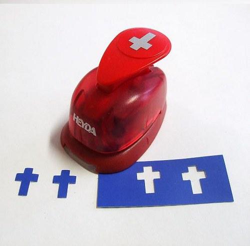 Okrasná děrovačka Křížek