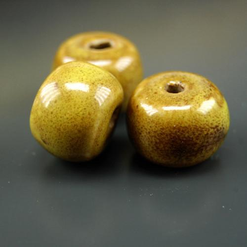 Keramický korálek rondelka 20x12mm, 1ks