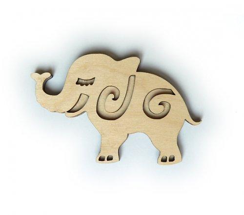 Dřevěné razítko - slon