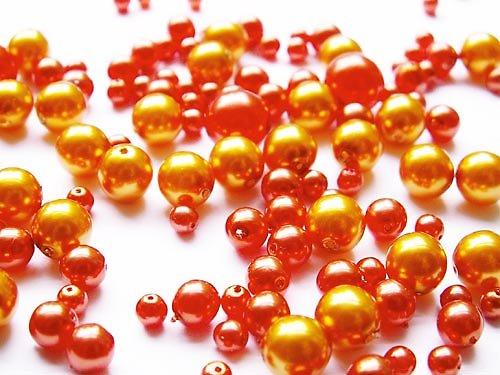 Voskové perle - zlatooranžová směs