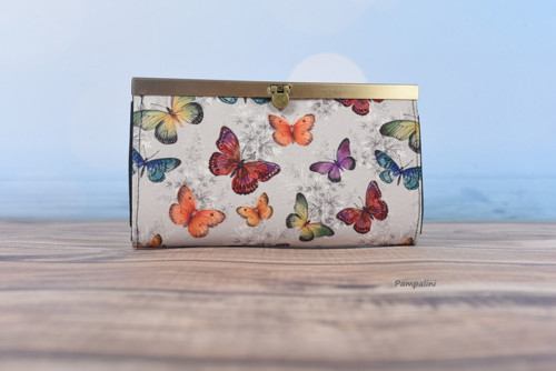Peněženka s rámečkem - Motýli