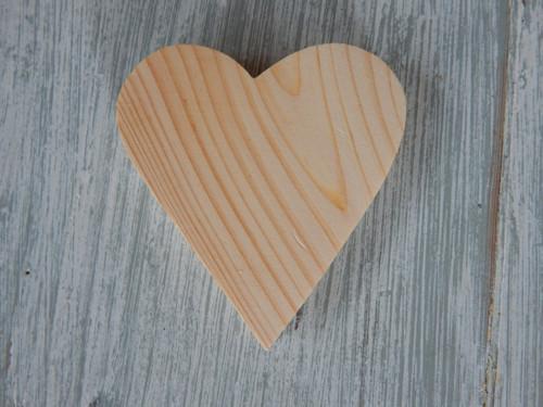 Srdíčko masiv bez dirky  7 x 6,5 cm