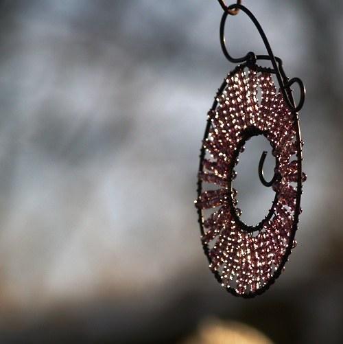 Kolečko k zavěšení lila - 10 cm